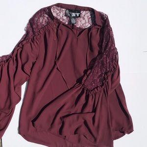 Tops - Ruffle Lace Blouse